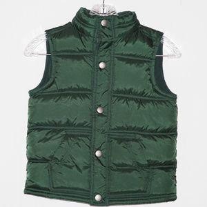 Gymboree Youth Green Sleeveless Puffer Jacket S